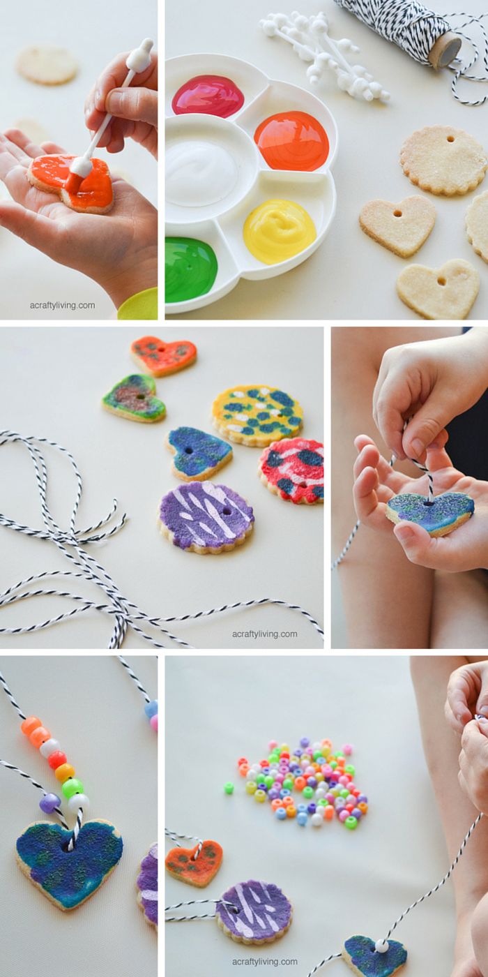 Make these kid-friendly salt dough necklaces for mother's day by NANNY SHECANDO and A Crafty Living