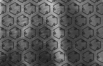 chiral microstructures on a steel sheet