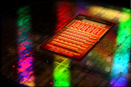 CMOS silicon photonics chip