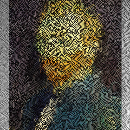 Van Gogh painted with a glassy polymer