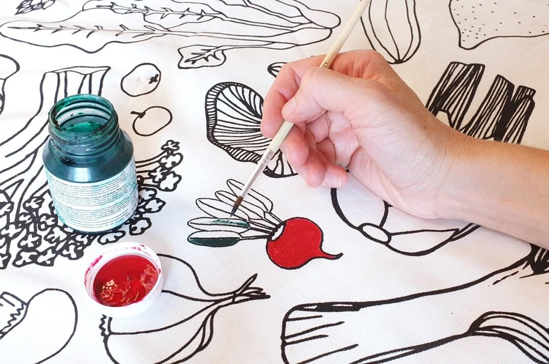 malowanie tkaniny dla dziecka