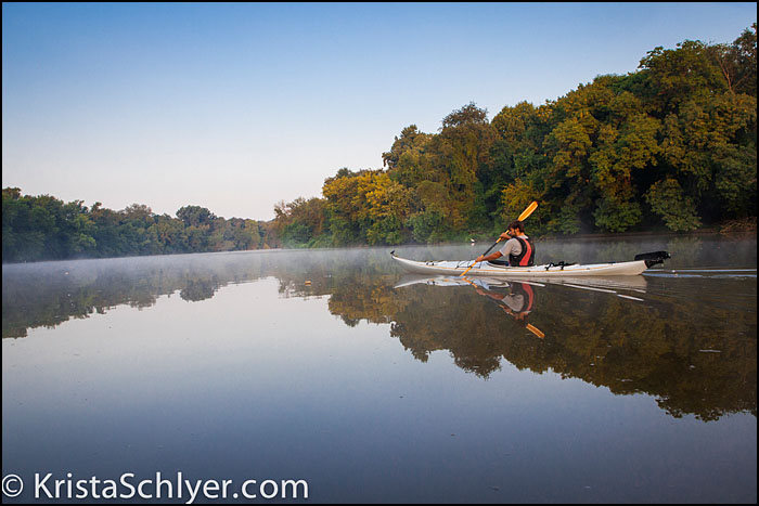 Kayaker on the Anacostia River.