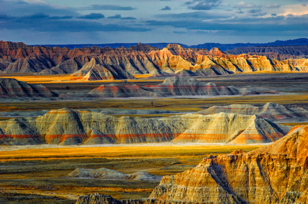 Norbeck Pass in the North Unit of Badlands National Park, SD.
