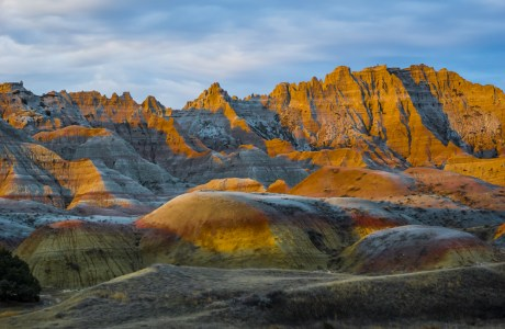 Yellow Mounds area in Badlands National Park, SD.