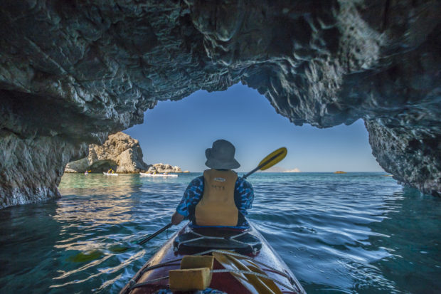 Paddling in Baja California Sur. Photo by Cathy Illg.