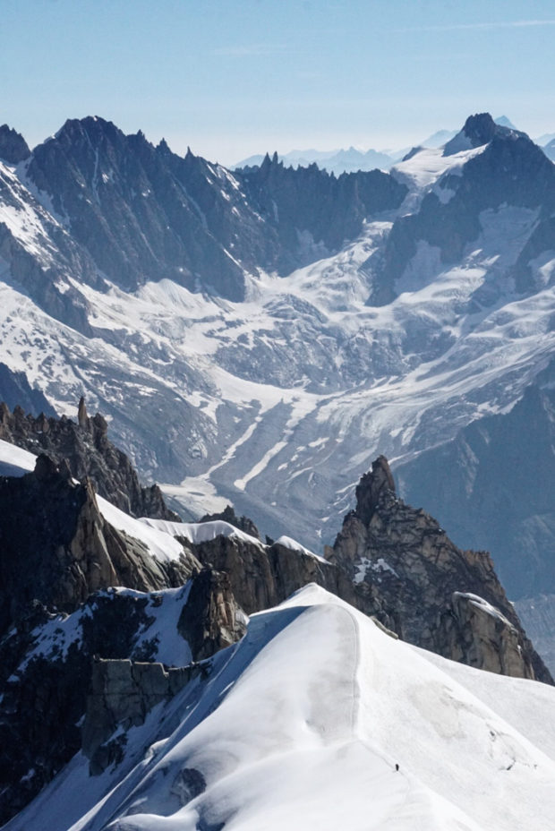I had the opportunity to study climate and culture in Chamonix, France, and the view from the top of the Alps was phenomenal. Are those people or ants? © Ashton Hooker