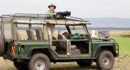 Here I am in the Land Rover during a morning coffee break in the Masai Mara
