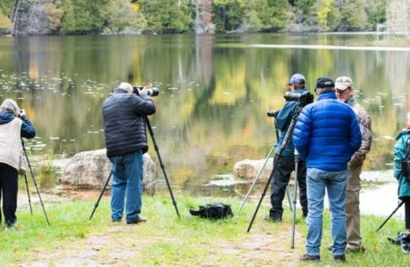 Photographers working in the field at NANPA's Michigan UP Regional Event © Tom Haxby