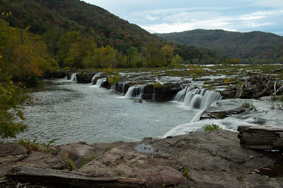 Sandstone Falls in the New River Gorge National River.