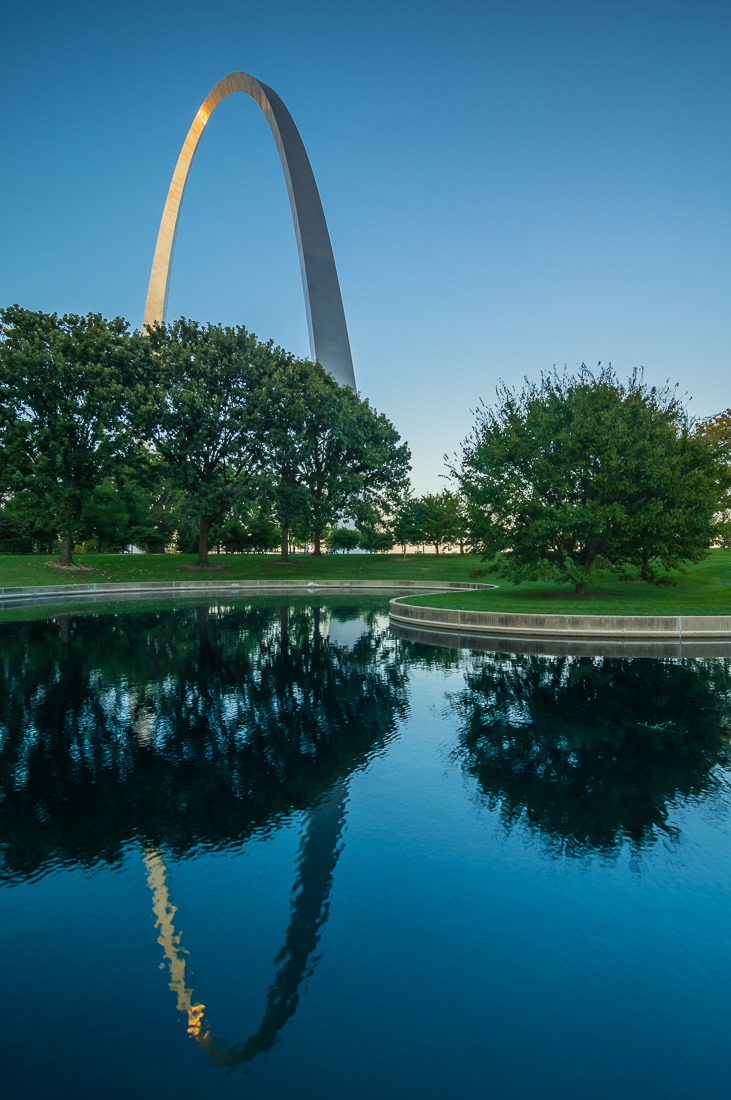 Gateway Arch reflections.