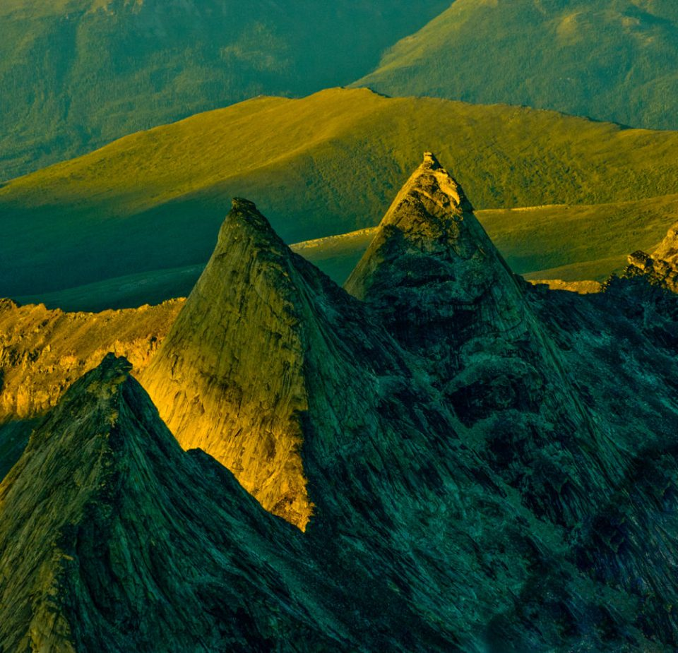Serrated Arrigetch Peaks in Gates of the Arctic National Park and Preserve.