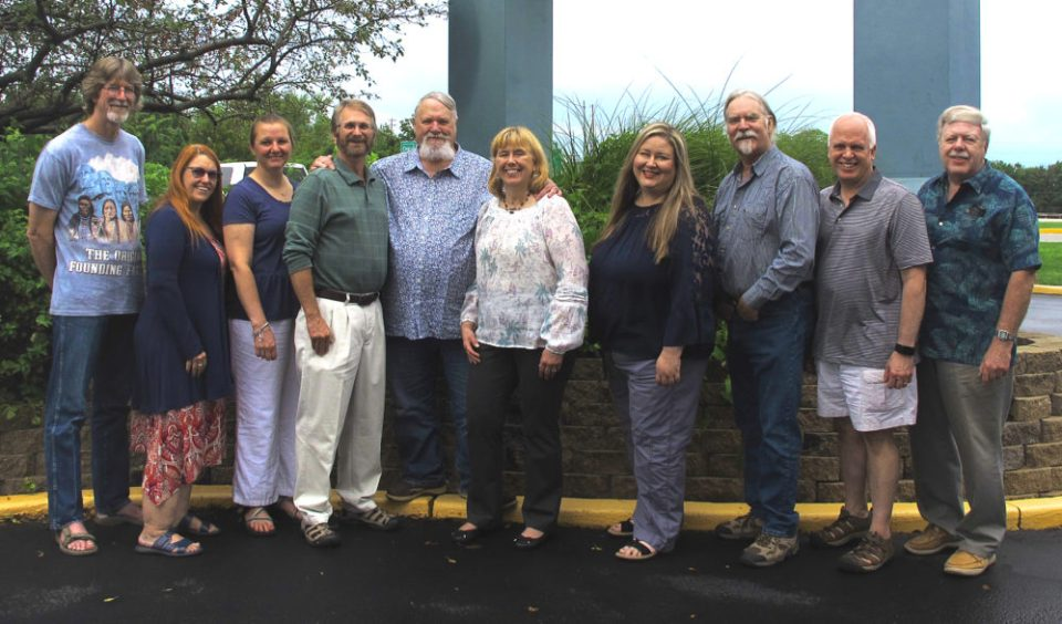 Photo of members of NANPA's board, St. Louis, 2019.