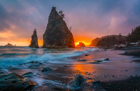 "Showcase 2020 Top 100 Winner: ""Rialto Beach Sunset, Olympic Peninsula, Washington"" © Don Larkin"