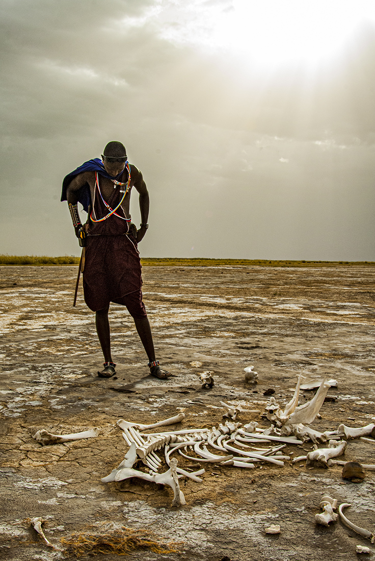 "Showcase 2020 Top 100 Winner: ""Maasai Herder On Dried-up Lake Bed, East Africa, Kenya's Greater Amboseli Region"" © Alison M. Jones"