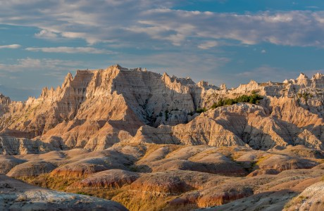 Landscape Image of the Sculpted Contours of the Badlands , South Dakota © Tom Haxby