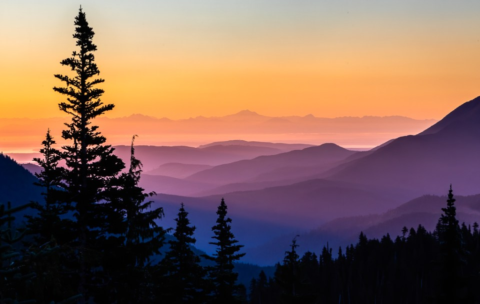 Olympic Sunrise, Olympic National Park, image by Don Larkin