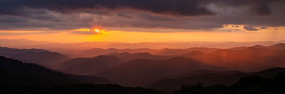 Blue Ridge Parkway Sunset After Storm, image by Susanna Euston