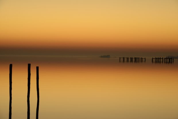 Johnson Bay on a November morning just before sunrise , Taylor Landing, Maryland. © Jim Clark