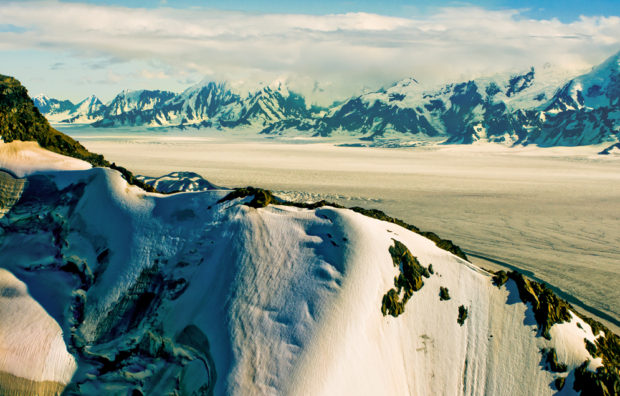 Bagley Icefield is 127 miles long, 6 miles wide and up to 3,000 feet thick. © Jerry Ginsberg