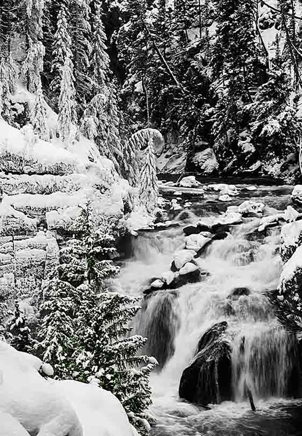 Winter wonderland; Firehole Canyon, Yellowstone National Park. ©Copyright Dana Warnquist
