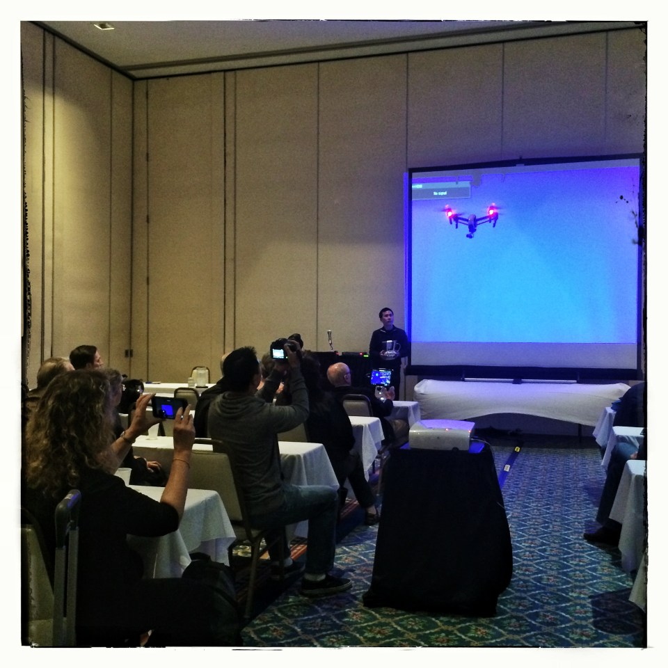 Eric Cheng presents a breakout session on unmanned aircraft in photography. © Karine Aigner
