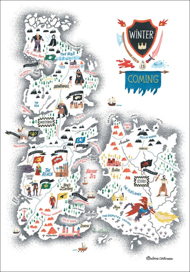 Game of thrones illustré par Antoine Corbineau