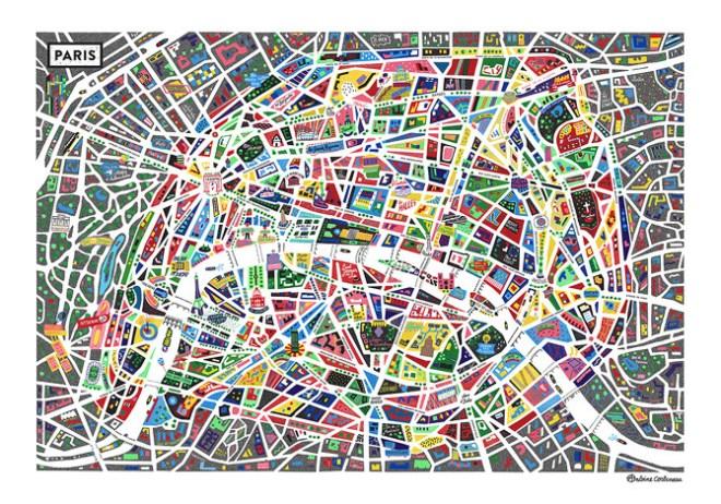 Plan de Paris par Antoine Corbineau