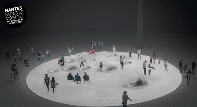 On va marcher sur la Lune au Voyage à Nantes 2015