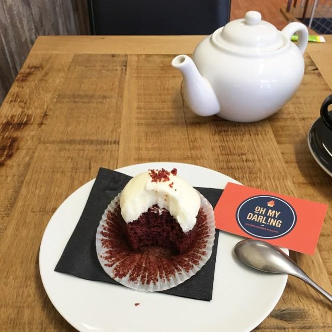 Cupcake red velvet chez oh my darling à Nantes