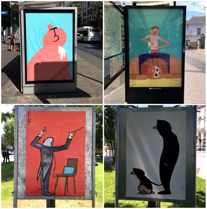 Affiches de Jean Jullien oeuvre du Voyage à Nantes 2016