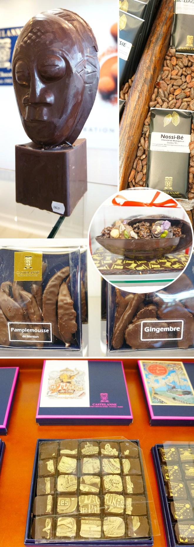 Moulures en chocolat, coffrets cadeau et autres spécialités de chez Castelanne