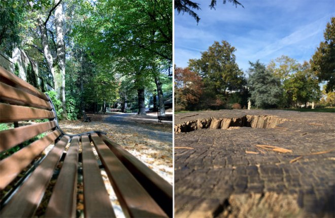 Bancs du Parc de Procé à Nantes