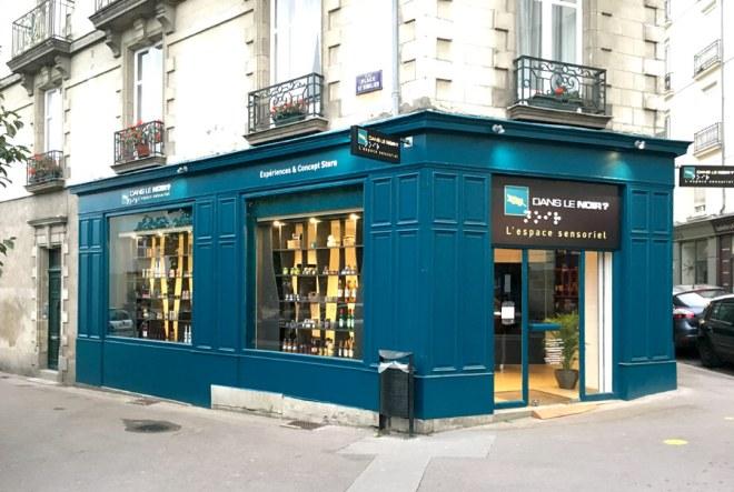 L'espace Dégustation Dans le noir à Nantes