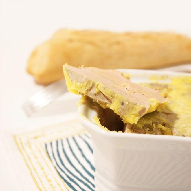 Résultat du cours de cuisine : terrine de foie gras