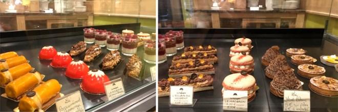 Les pâtisseries du restaurant La Passagère dans le passage Pommeraye à Nantes