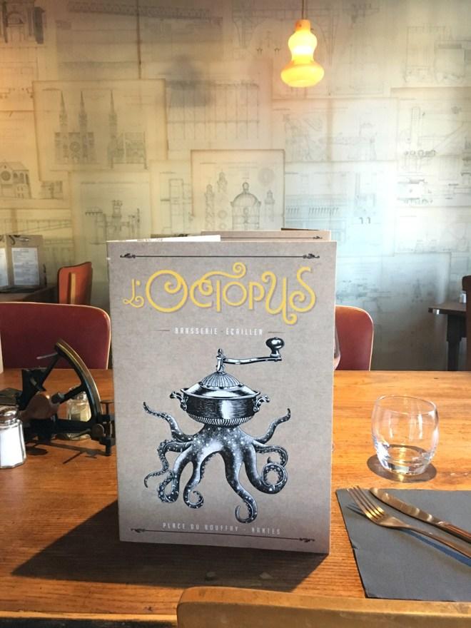 L'Octopus restaurant de poissons et fruits de mer à Nantes