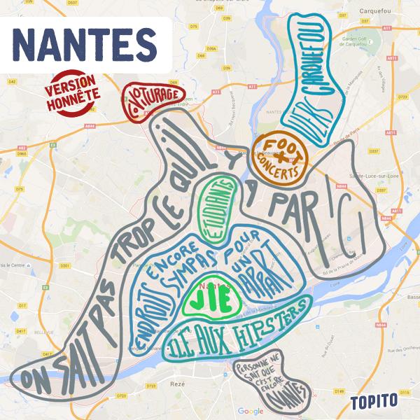 "Plan ""honnête"" de Nantes par Topito"