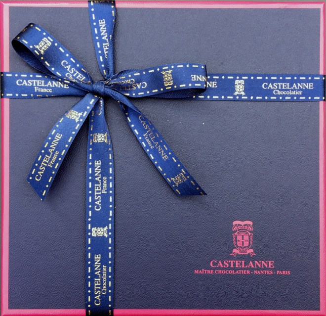 La box de tablettes de chocolats Castelanne