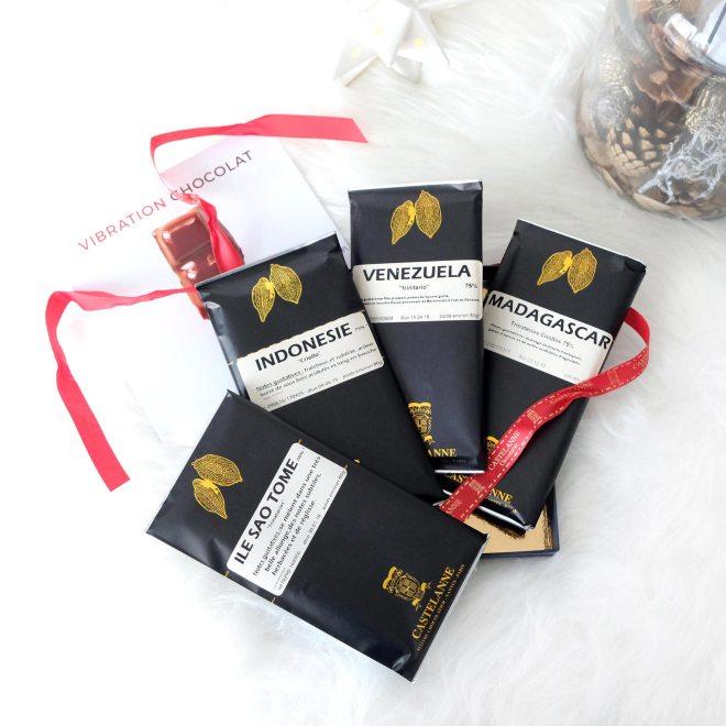 Découverte de la box de tablettes de chocolat grands crus par Castelanne, chocolatier nantais