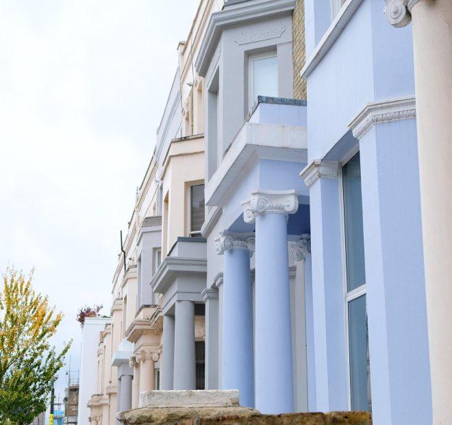 Notting hill et ses maisons colorées