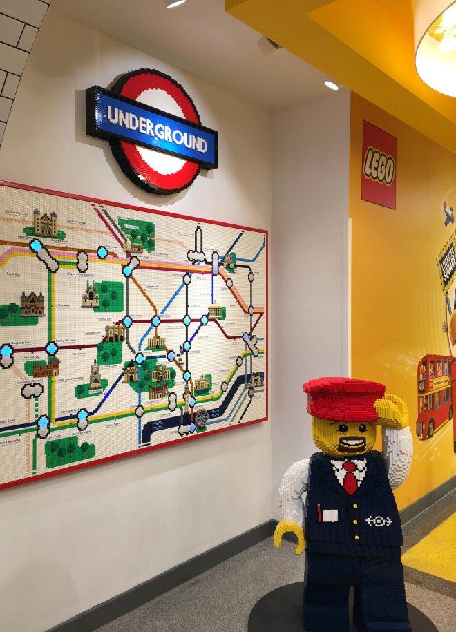 Boutique Lego à Picadilly circus à Londres