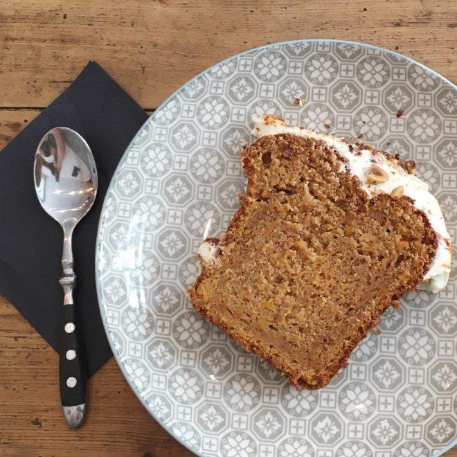 Carrot cake au Sugar blue café, salon de thé à Nantes