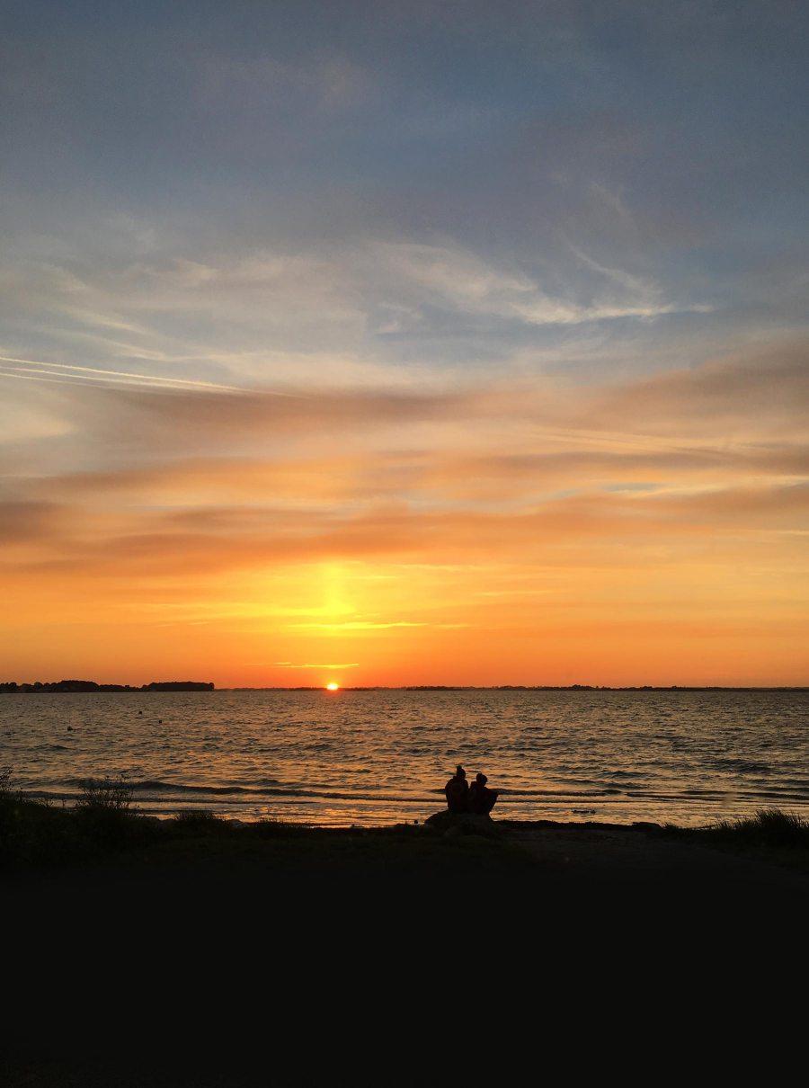 Coucher de soleil dans le Golfe du Morbihan