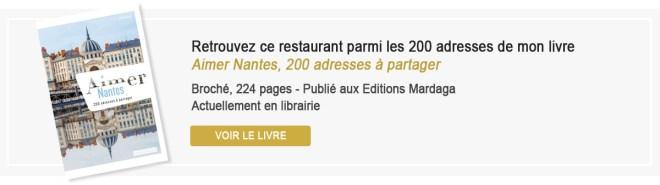 Aimer Nantes, 200 adresses à partager, livre de bonnes adresses de restaurants à Nantes