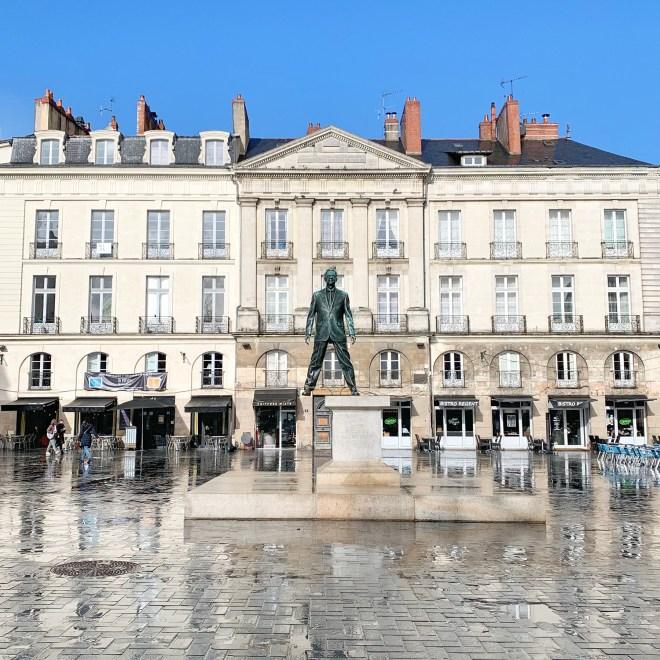Balades à Nantes en février 2019 : statue du Voyage à nantes