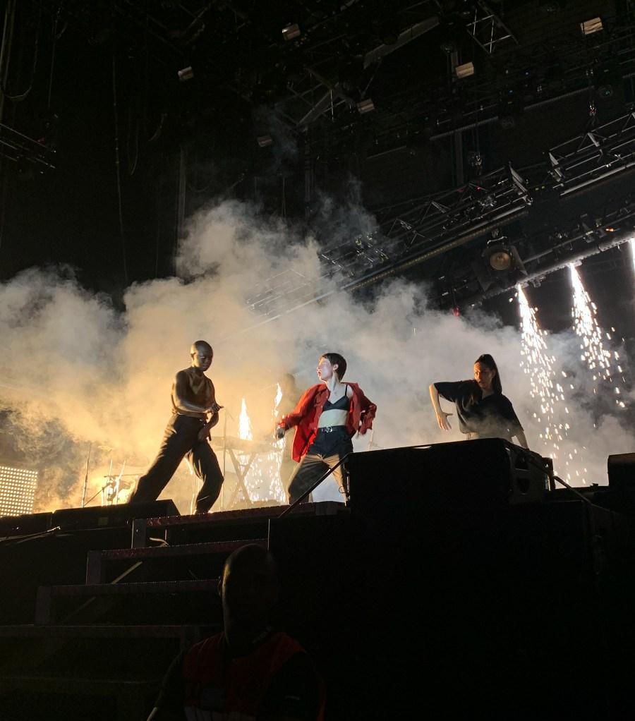 Christine and the queens au festival Super Bock, super rock à Lisbonne en 2019