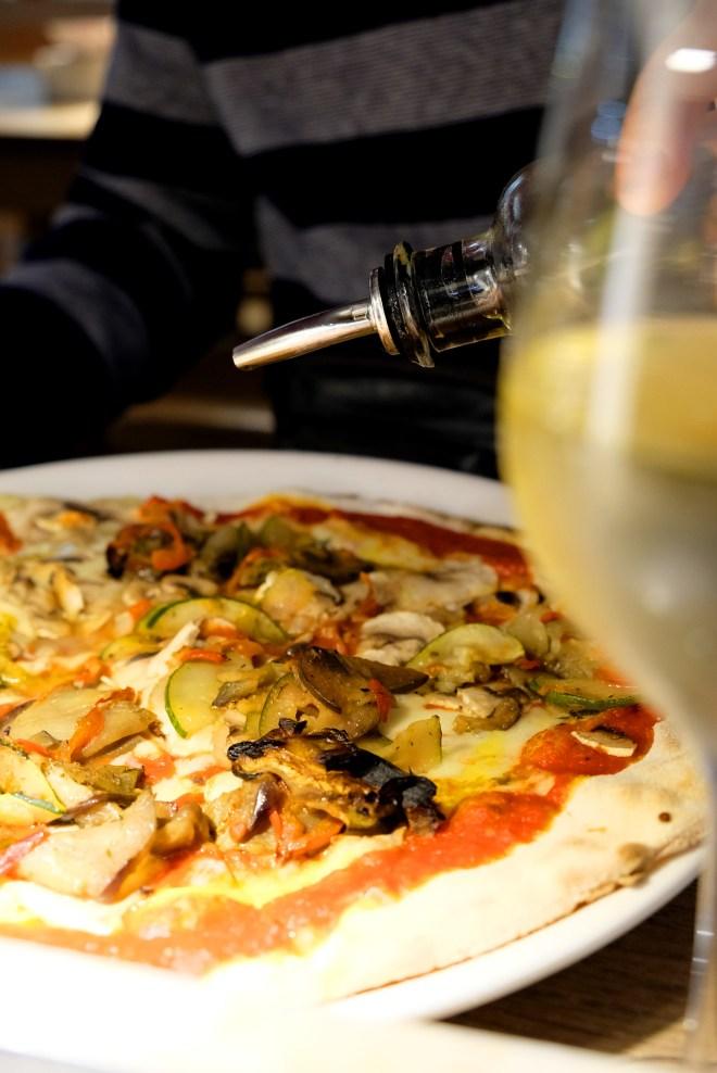 pizza végétarienne chez Vapiano Nantes Atlantis