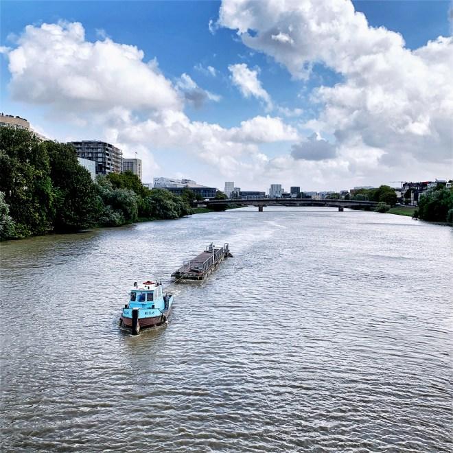 Bateau sur la Loire à Nantes