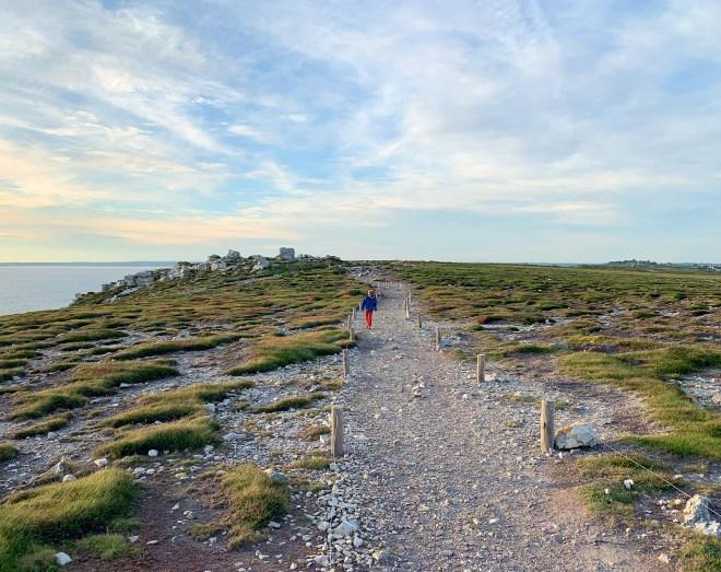 Balade sur le sentier côtier sur la pointe de Pen-hir