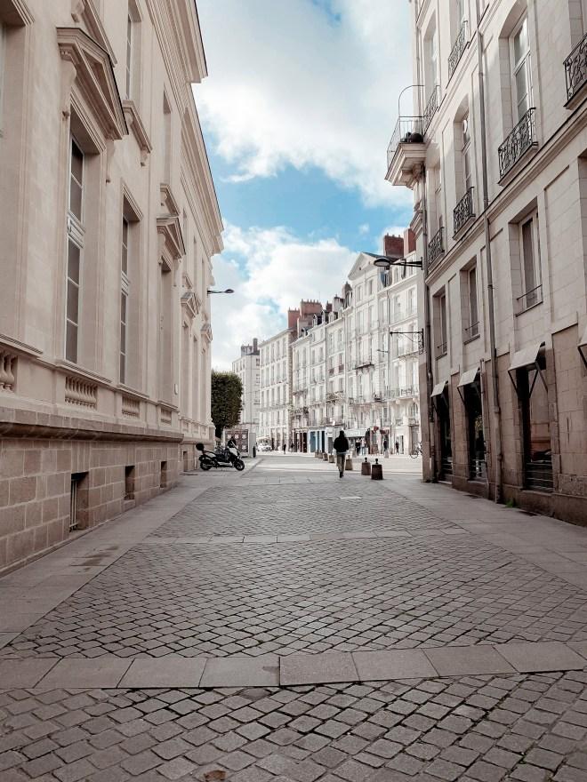 La Place du Commerce à Nantes en hiver